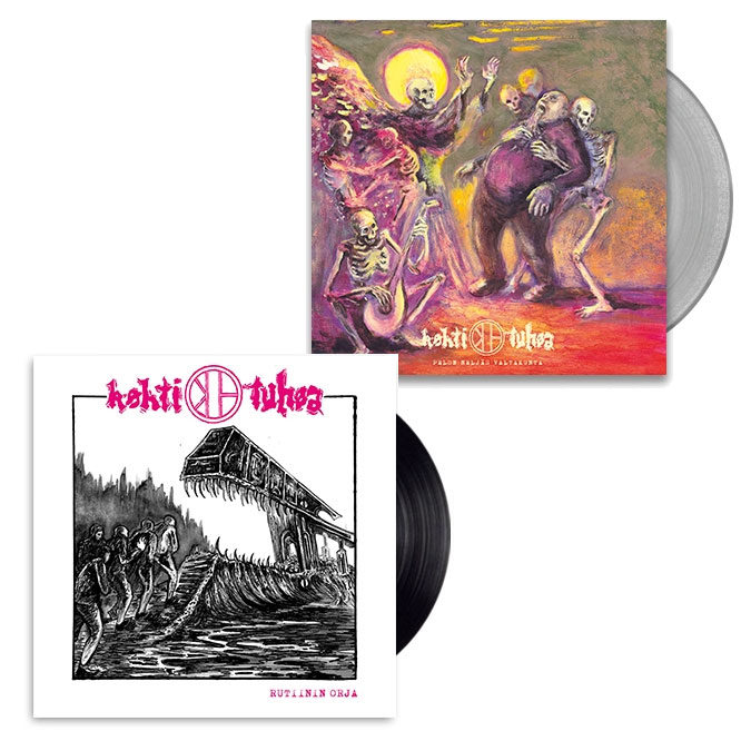 Kohti Tuhoa – Pelon Neljäs Valtakunta - Clear Vinyl + Rutiinin Orja - Black Vinyl