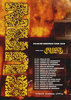 Gust Burn tour poster
