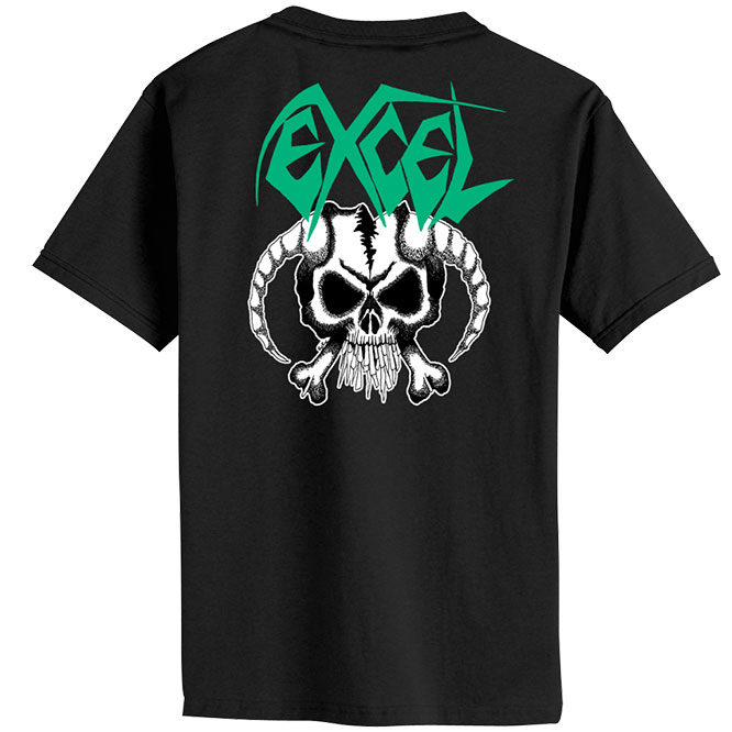 Excel – Skull & Horns shirt back