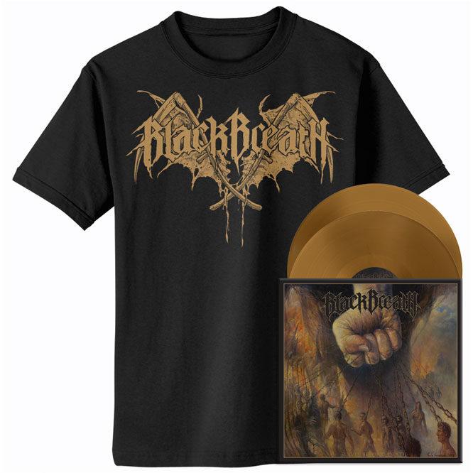 Black Breath - Slaves Beyond Death - Gold Vinyl / Shirt