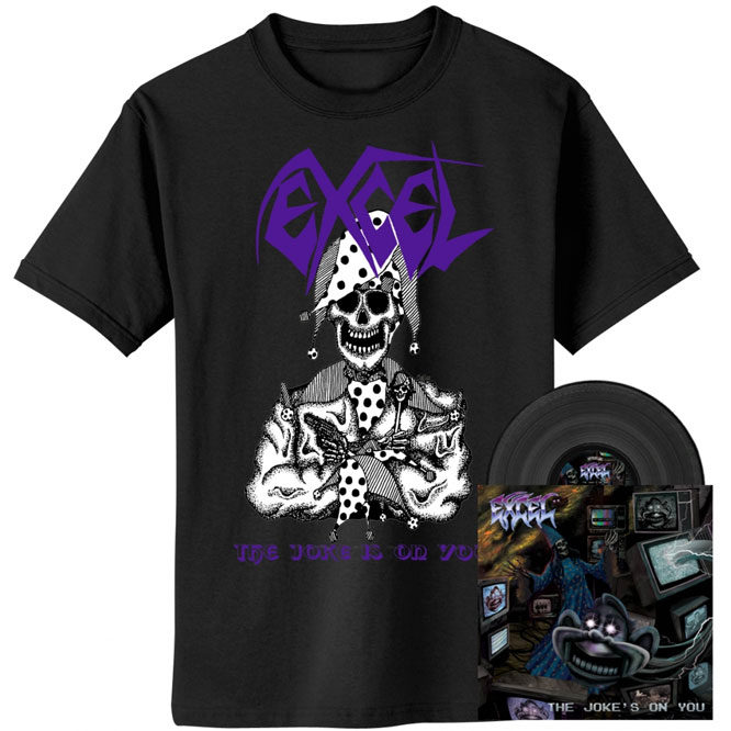 Excel – The Joke's On You - Black Vinyl w/ Jester Shirt