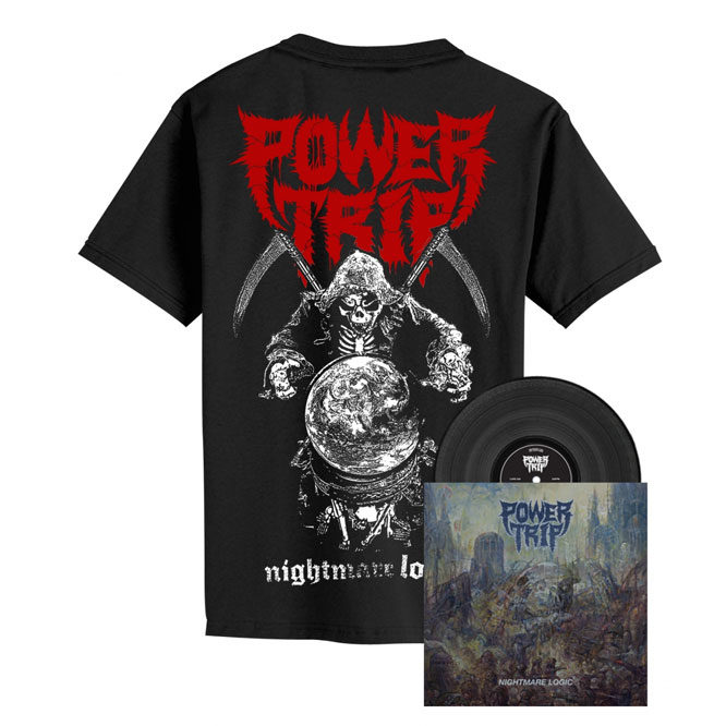 Power Trip – Nightmare Logic - Black Vinyl + Reaper Shirt