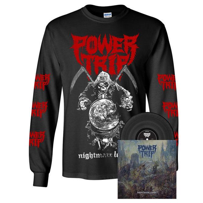 Power Trip – Nightmare Logic - Black Vinyl + Reaper Long Sleeve Shirt