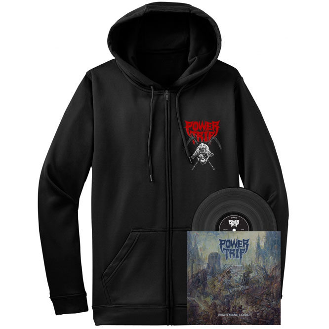 Power Trip – Nightmare Logic - Black Vinyl + Zip UP Hoodie (Hoodie / LP