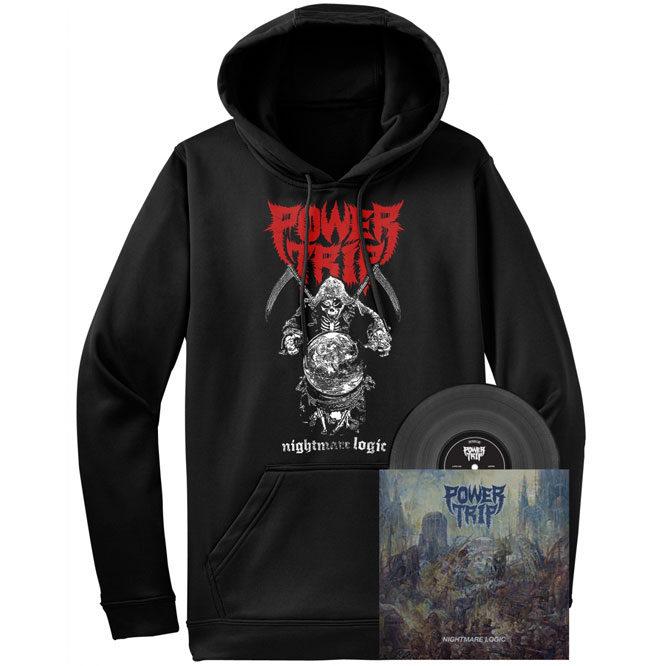 Power Trip – Nightmare Logic Reaper ZIP UP hoodie and black vinyl