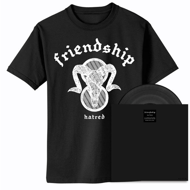 Friendship – Hatred - Black Vinyl + Ram's Head shirt