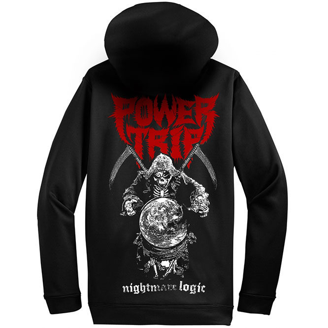 Power Trip – Nightmare Logic Reaper ZIP UP hoodie