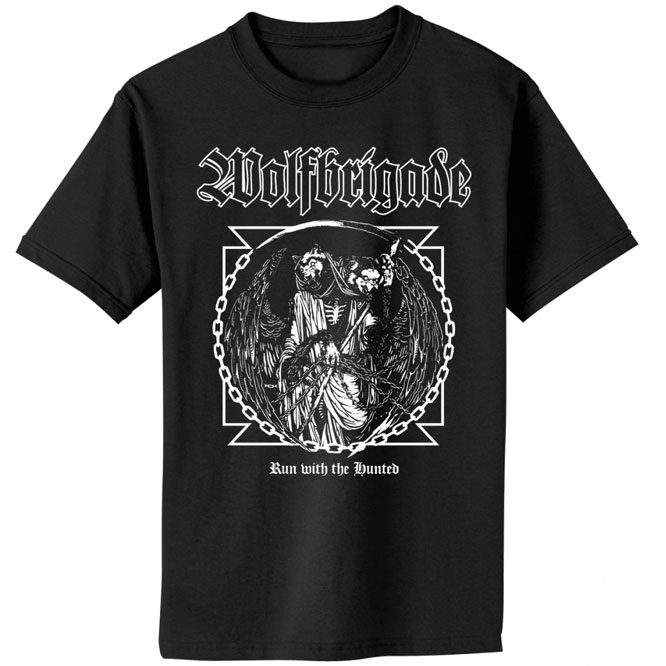Wolfbrigade – Run With The Hunted Cover shirt