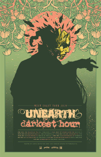 DARKEST HOUR UNEARTH tour poster
